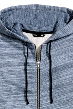 Hooded jacket - Blue marl -  | H&M 3