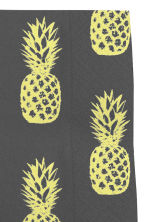 Paper napkins - Black/Pineapple - Home All | H&M CN 2