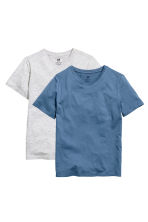 Lot de 2 T-shirts - Bleu chiné - ENFANT | H&M FR 2