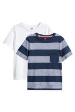 2-pack T-shirts - Dark blue/Striped -  | H&M CN 2
