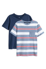 2-pack T-shirts - Dark blue -  | H&M IE 2