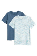 2-pack T-shirts - Dark blue washed out -  | H&M 1