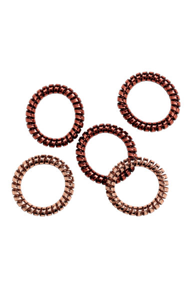 5-pack hair elastics - Copper - Ladies | H&M CN 1