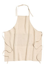 Washed linen apron - Linen beige - Home All | H&M CN 1