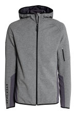 Hooded sports jacket - Dark grey marl - Men | H&M CN 2