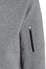 Hooded sports jacket - Dark grey marl - Men | H&M CN 3