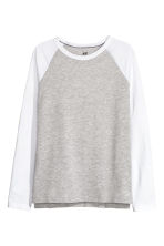 Long-sleeved T-shirt - Grey marl - Kids | H&M CN 2
