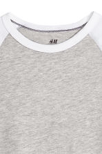 Long-sleeved T-shirt - Grey marl - Kids | H&M CN 3