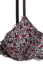 Lace push-up bra - Black/Small floral - Ladies | H&M CN 3