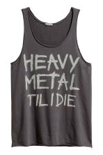 Printed vest top - Dark grey - Men | H&M CN 2