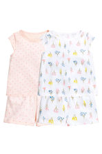 2套入平紋睡衣套裝 - Powder pink/Spotted - Kids | H&M 1