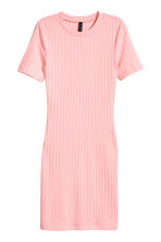Ribbed jersey dress - Light pink - Ladies | H&M CN 2