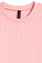 Ribbed jersey dress - Light pink - Ladies | H&M CN 3