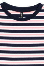 Ribbed jersey dress - Pink/Striped -  | H&M CN 3