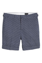 Jacquard-weave city shorts - Dark blue/Patterned - Men | H&M CA 2