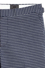 Jacquard-weave city shorts - Dark blue/Patterned - Men | H&M CA 4