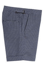 Jacquard-weave city shorts - Dark blue/Patterned - Men | H&M CA 3