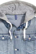 Denim jacket with a hood - Denim blue -  | H&M CN 2