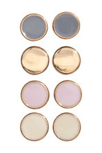 4 pairs earrings - Light pink/Gold - Ladies | H&M CN 1