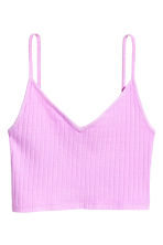 Jersey crop top - Purple - Ladies | H&M CN 2