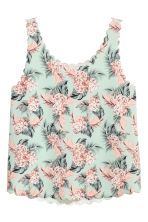 Vest top with scalloped edges - Mint green/Floral - Ladies | H&M 2