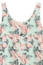Vest top with scalloped edges - Mint green/Floral - Ladies | H&M 3