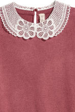 Fine-knit top with a collar - Terracotta - Ladies | H&M 3