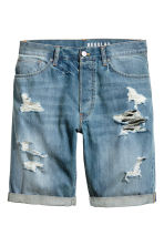 Denim shorts Trashed - Denim blue - Men | H&M 2