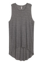 Long ribbed vest top - Dark grey marl -  | H&M CN 2
