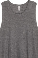 Long ribbed vest top - Dark grey marl -  | H&M CN 3