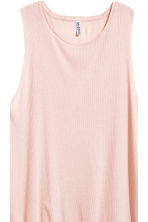 Long ribbed vest top - Powder - Ladies | H&M CA 3