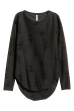 Trashed top - Black - Ladies | H&M 2