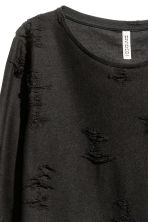 Trashed top - Black - Ladies | H&M CN 3