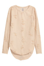Trashed top - Powder beige - Ladies | H&M CN 2