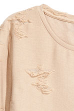 Trashed top - Powder beige - Ladies | H&M CN 3