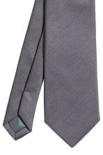 Satin tie - Anthracite grey - Men | H&M CN 3