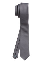 Satin tie - Anthracite grey - Men | H&M CN 2