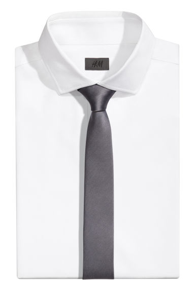 Satin tie - Anthracite grey - Men | H&M CN 1