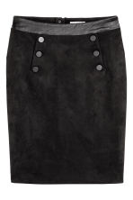 Button-detail skirt - Black - Ladies | H&M CA 2