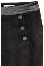 Button-detail skirt - Black - Ladies | H&M CA 3