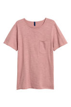 Fine-knit T-shirt - Dusky pink - Men | H&M 2