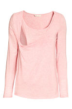 MAMA Nursing top - Light pink marl - Ladies | H&M CN 3