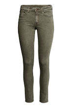 Super Skinny Regular Jeans - Khaki green - Ladies | H&M CN 2