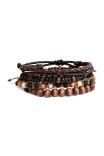 4-pack bracelets - Dark brown - Men | H&M CN 1