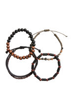 4-pack bracelets - Dark brown - Men | H&M CN 2