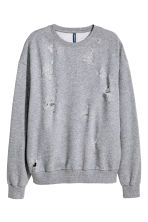 Trashed sweatshirt - Grey marl - Men | H&M 2