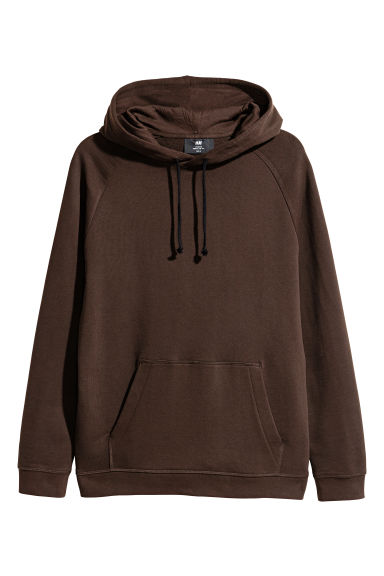 Hooded top - Dark brown - Men | H&M CN 1