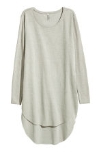 Long jersey top - Light grey - Ladies | H&M CN 2