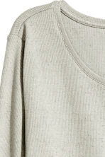Long jersey top - Light grey - Ladies | H&M CN 3