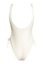 Swimsuit High leg - Natural white/Leaf  - Ladies | H&M 3